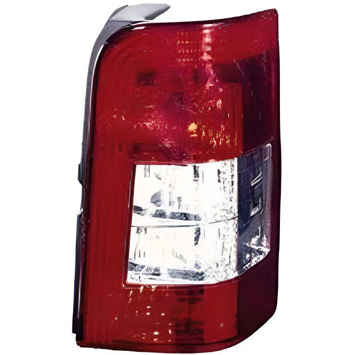 Feu arrière droit PEUGEOT PARTNER I phase 2, 2006-2008, rouge/blanc, (2 portes arrière).