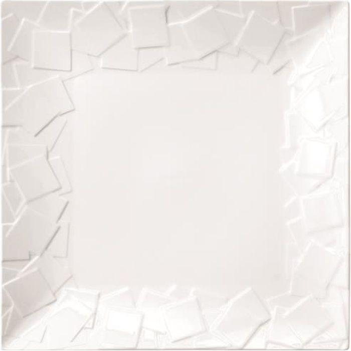Lot de 6 Assiettes Plates carrées Mozaïk - 14 x 14 cm
