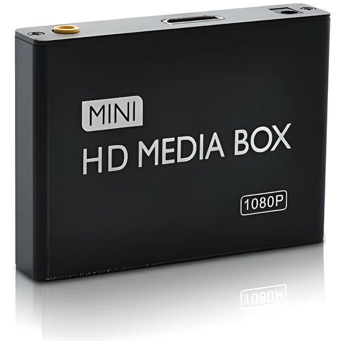 Media Center Lecteur Tout Format Full HD 1080p Disque Dur Carte SD et Clé USB