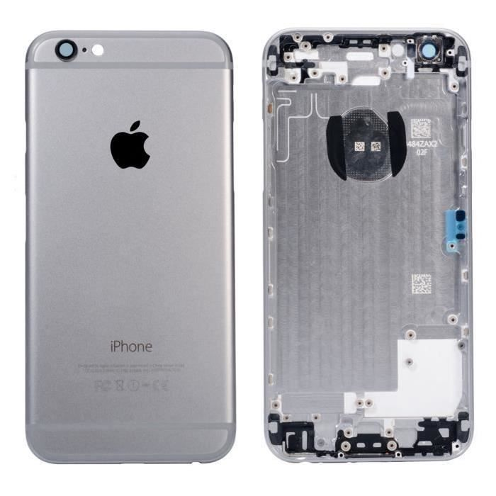 coque arriere chassis iphone 6s plus gris sideral