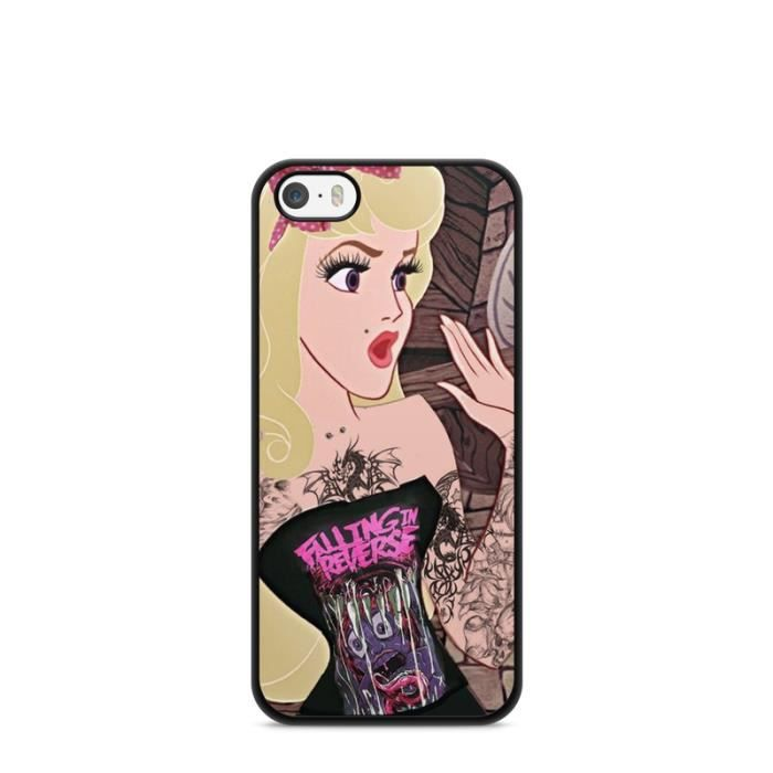Coque Iphone 7 Disney princesse tatoué case ariel white snow Alice ...