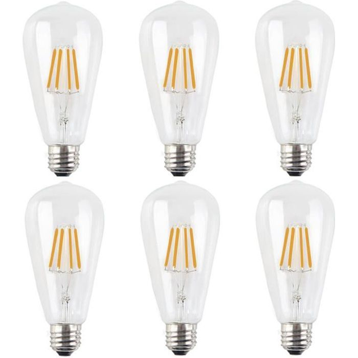 6x e27 lampe filament led 4w ampoule filament dimmable. Black Bedroom Furniture Sets. Home Design Ideas