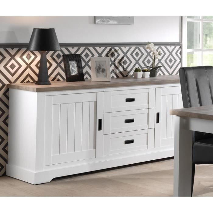bahut blanc plateau bois 39 monaco 39 meuble house achat vente buffet bahut bahut blanc. Black Bedroom Furniture Sets. Home Design Ideas