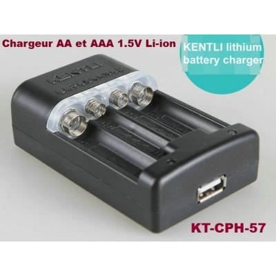 Chargeur kt cph 57 aa et aaa 1 5v rechargeable li ion - Pile rechargeable 1 5v ...