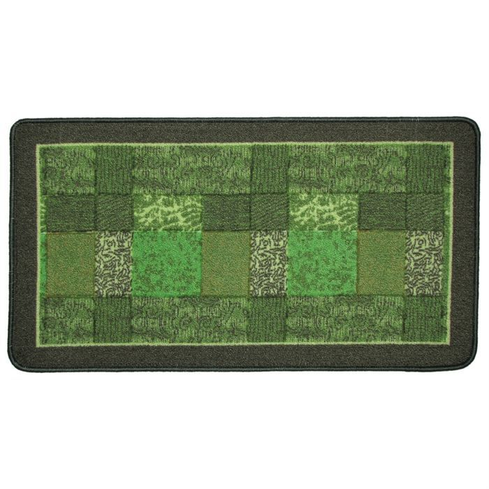 Tapis d co salon vert design 80x150 achat vente tapis for Tapis deco salon
