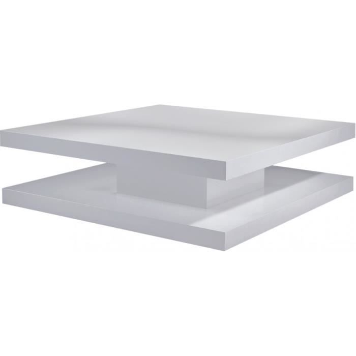 Meuble style designstructure mdffinition laque - Table basse laque blanc brillant ...