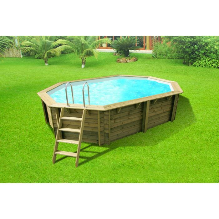 Piscine bois tonga ubbink allong e en kit 610x400x120 cm for Piscine bois en kit