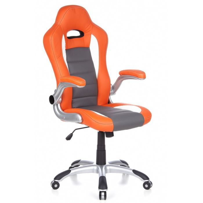 si ge pivotant si ge de bureau racer sport o achat vente chaise de bureau orange cdiscount. Black Bedroom Furniture Sets. Home Design Ideas