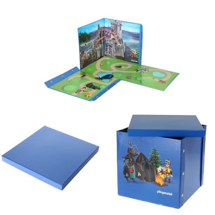 playmobil bo te de rangement double emploi chevaliers. Black Bedroom Furniture Sets. Home Design Ideas