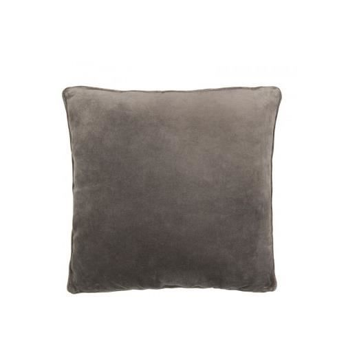 coussin velours gris 50x50cm lifestyle achat vente coussin cdiscount. Black Bedroom Furniture Sets. Home Design Ideas