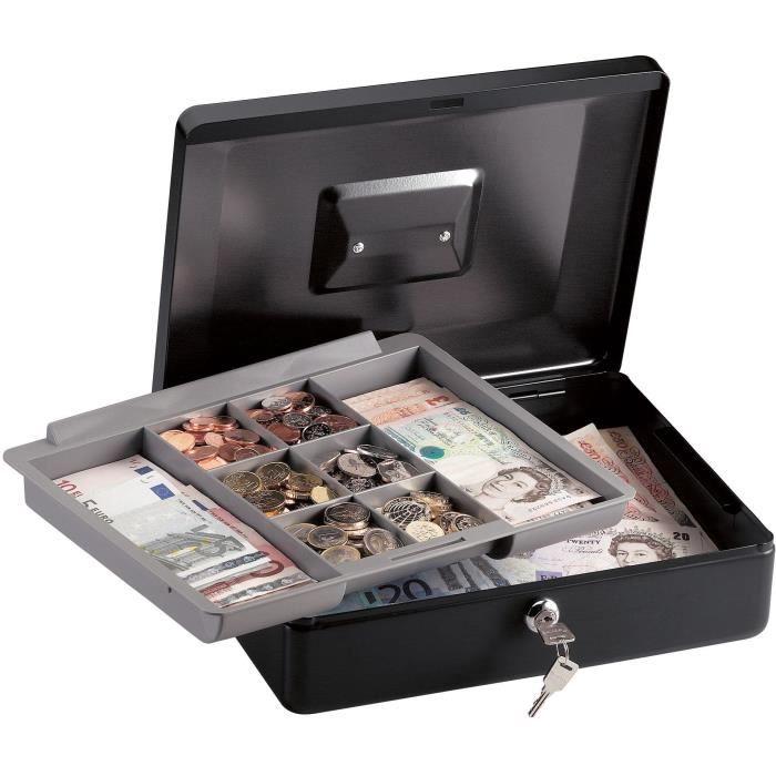 Caisse /à monnaie en acier robuste avec porte-monnaie compartiments amovibles 200/mm rose