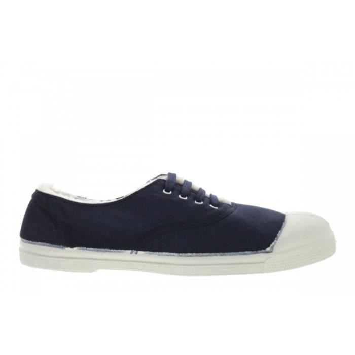 Baskets mode - Bensimon Lacets Fourrée Bleu Mar...