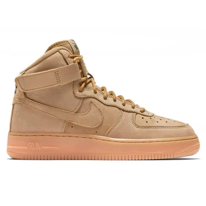 feeb56c0456 Chaussures Nike Air Force 1 High Flax GS 922066 203 Marron Marron ...