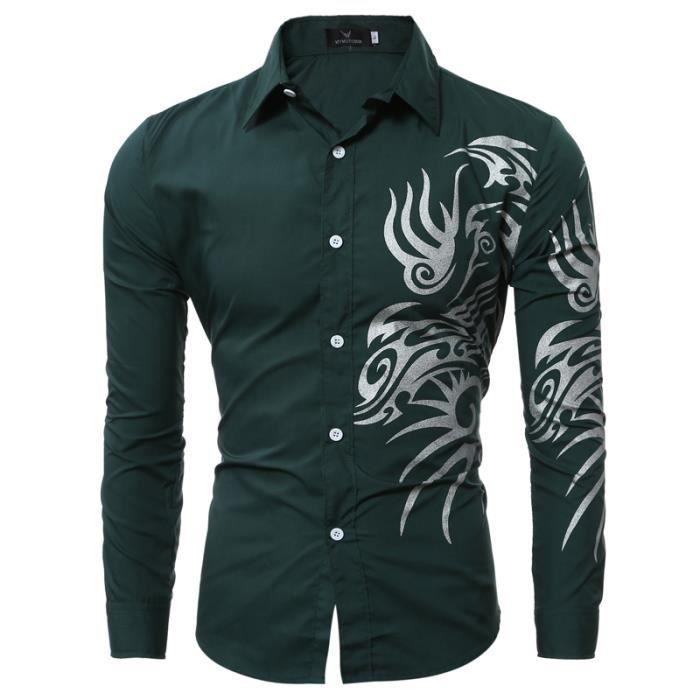 Vert Noir Rose Chemise de Loisirs pour Hommes Homme en Bleu Clair Violet