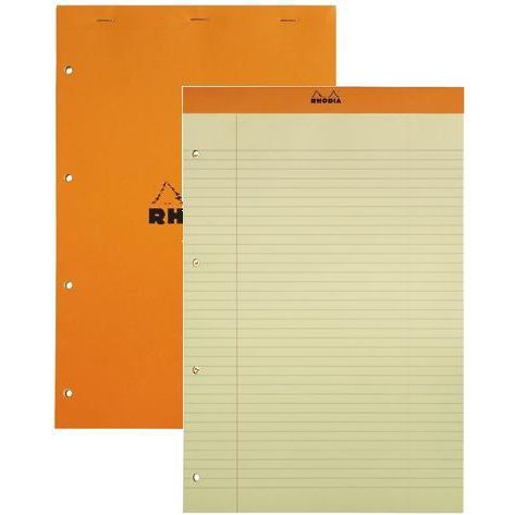 bloc de bureau rhodia 21x32 micro perforee jaune achat. Black Bedroom Furniture Sets. Home Design Ideas
