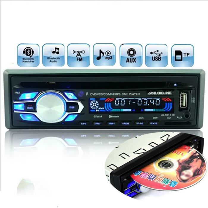 12v universal unique din voiture lecteur dvd cd usb sd fm. Black Bedroom Furniture Sets. Home Design Ideas