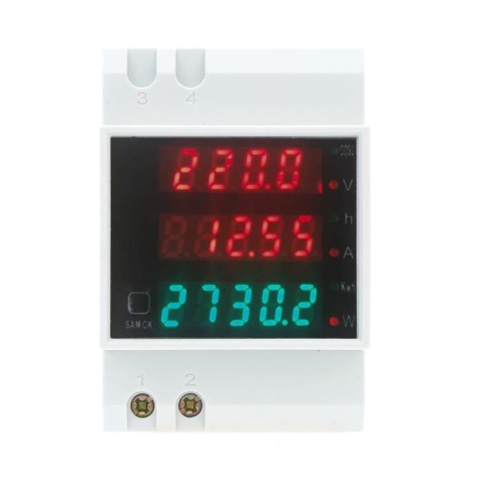 AC 80-300V 100A LCD Numérique Voltmètre Ampère Puissance Kwh Compteur Moniteur