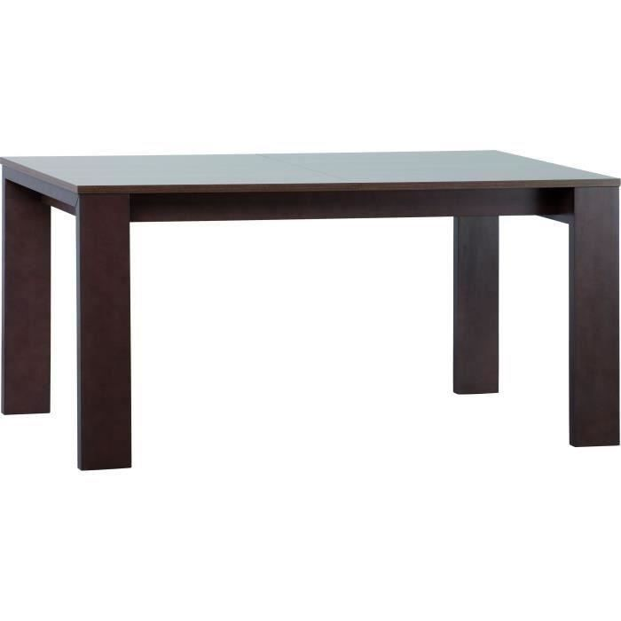 Table avec rallonges 160 250 cm inbox meubles bon prix for Table a manger 160 cm avec rallonge