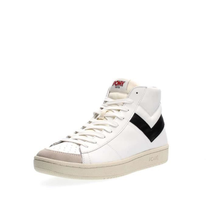 PONY SNEAKERS Homme OFF WHITE/BLACK, 43
