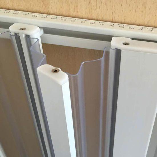 Forte Paroi Douche 150 CM H185 en Plastique PVC mod/èle Aura avec l/'Ouverture Centrale