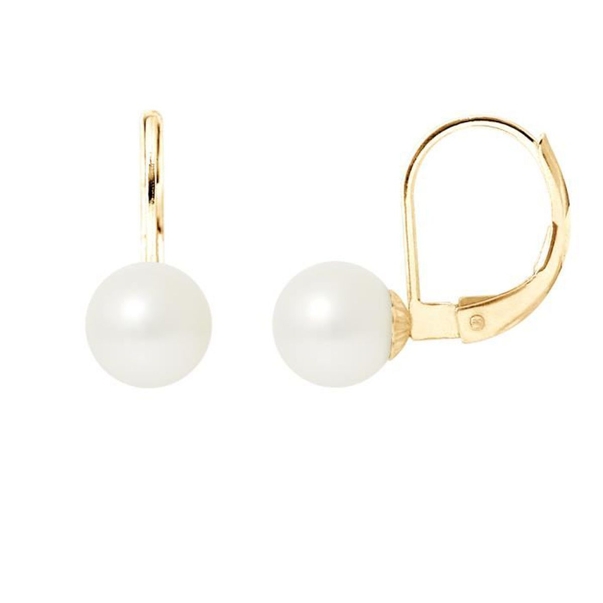 Boucle d'oreille PERLINEA Boucles d'Oreilles Dormeuses Perles de Cu