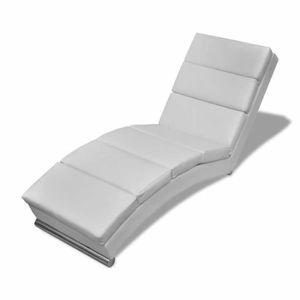 CHAISE LONGUE Chaise longue Cuir synthétique Blanc