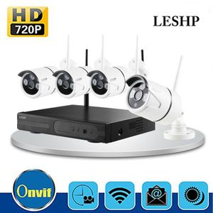CAMÉRA DE SURVEILLANCE LESHP 720Psans fil 4CH caméras de sécurité système