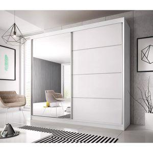 ARMOIRE DE CHAMBRE Armoire contemporaine 2 portes coulissantes Lincol
