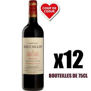 VIN ROUGE X12 Château Maucaillou 2016 75 cl AOC Moulis-en-Mé