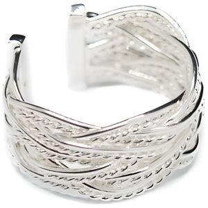 Devata Léopard Argent Sterling 925 18K bracelet en or zircon cubique blanc LPK3835CZ