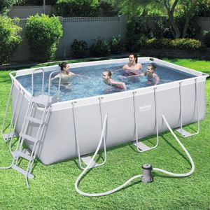 PISCINE BESTWAY Kit Piscine tubulaire rectangulaire L4,88