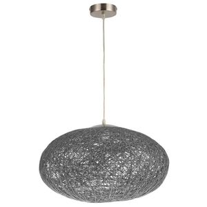 LUSTRE ET SUSPENSION Lustre - suspension Exotico ovale 45 cm gris