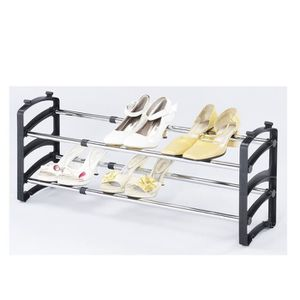 range chaussures extensible de 58 115cm avec 2 tag res achat vente porte chaussures range. Black Bedroom Furniture Sets. Home Design Ideas