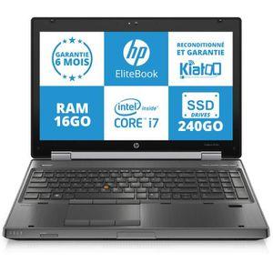 ORDINATEUR PORTABLE PC PORTABLE HP ELITEBOOK 8570W INTEL CORE i7 16GO