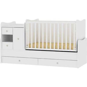 LIT BÉBÉ Lit bébé évolutif combiné 3 en 1 Mini Max Lorelli
