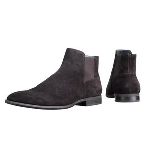 BOTTINE Bottine Calvin Klein Larry Calf Suede Dark Brown