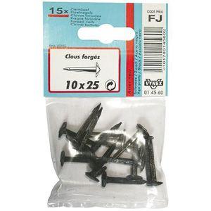 CLOU - POINTE Clou forgé - acier - noir - 10x25