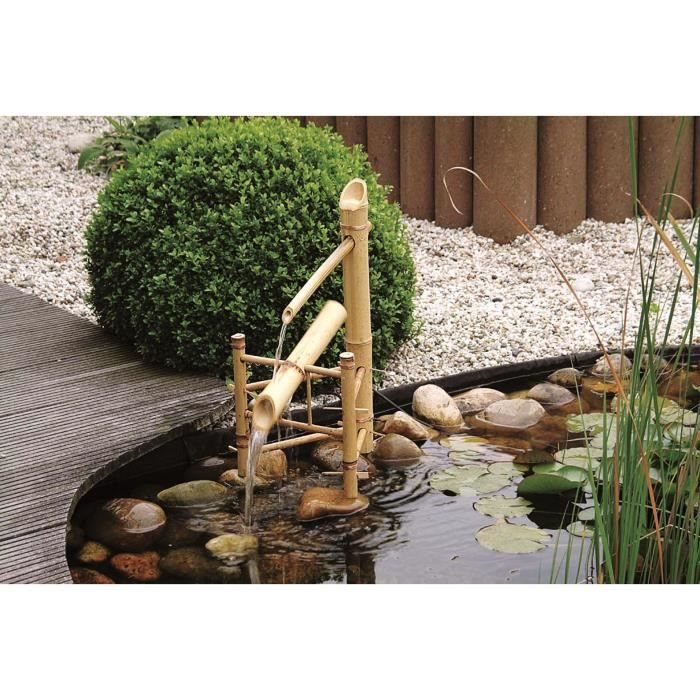 fontaine de jardin bamboo basculante achat vente. Black Bedroom Furniture Sets. Home Design Ideas