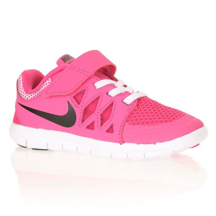nike baskets free 5 0 enfant rose et noir achat vente basket cdiscount. Black Bedroom Furniture Sets. Home Design Ideas