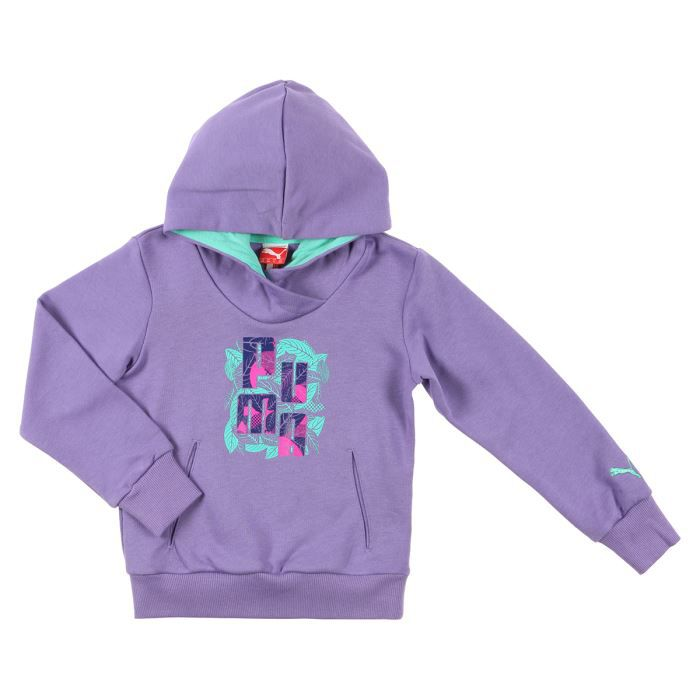 puma sweat shirt enfant fille violet achat vente ring cage cdiscount. Black Bedroom Furniture Sets. Home Design Ideas