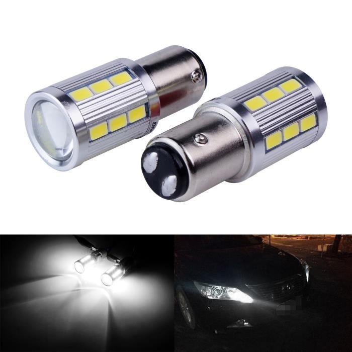 2 x ampoule 21 LED BLANC BAY15D 1157 P21W VOITURE STOP P21/5W Ampoules Feux Jour