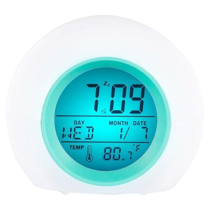 7 couleurs LED changement numérique lumineux réveil veilleuse pour chambre enfant chaud Maison intelligente BOX DOMOTIQUE 785