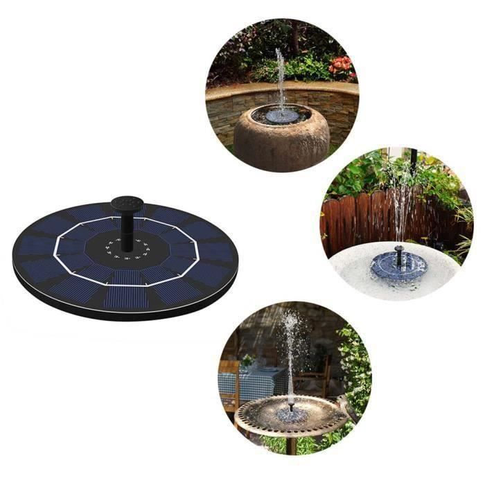 Fontaine Solaire Flottant,2,5W Pompe à Eau Solaire pour Pompe De Fontaine,pour Les Bains d'oiseaux, Les Petits étangs