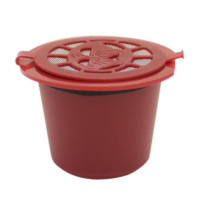 Capsules de café rechargeables et réutilisables, pour Machine à café Nespresso, avec filtre, cuillère, brosse, panier [E74938F]
