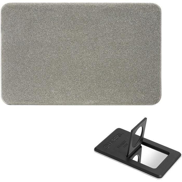 SHARPAL 113N Pierre à aigu r diamantée au format carte de crédit, affûteur de poche diamanté pour couteaux et outils (Grain épai258