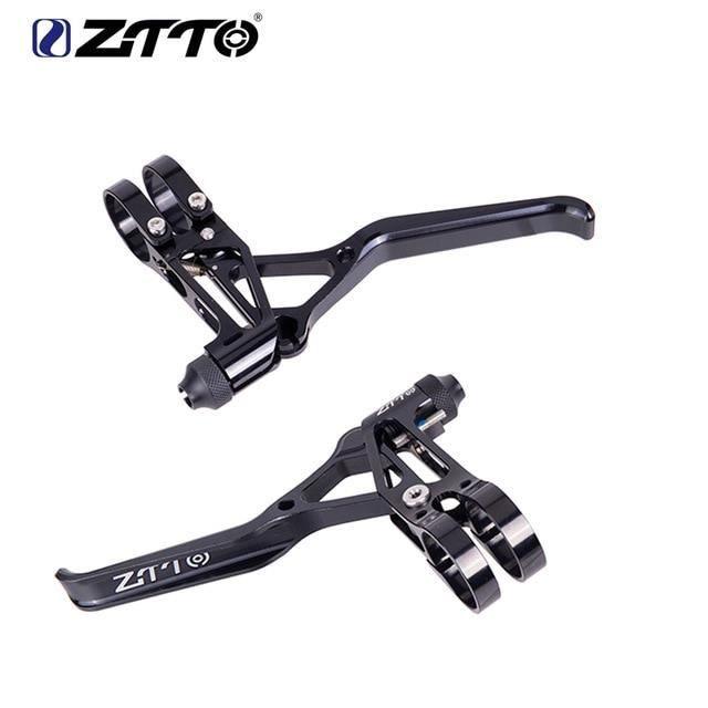 Pièce Détachée,ZTTO 1 paire freins de vélo en aluminium V leviers de frein pinces de frein poignée vélo de - Type Black Lever SL
