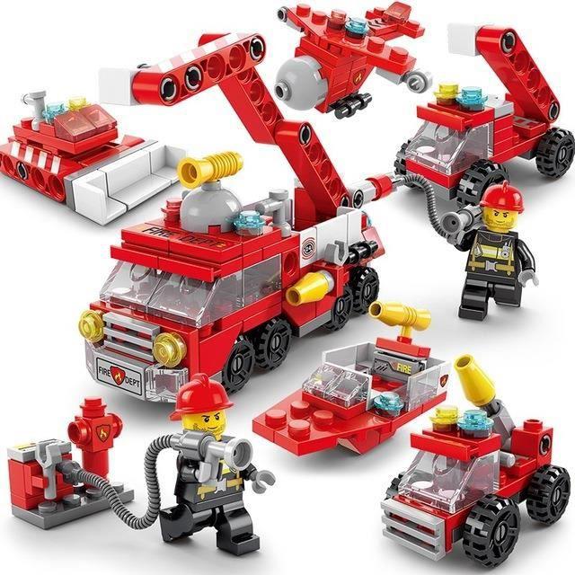 Fourniture de blocs de construction 6 en 1, jouets pour garçons, assemblage de blocs de construction, éducation précoce