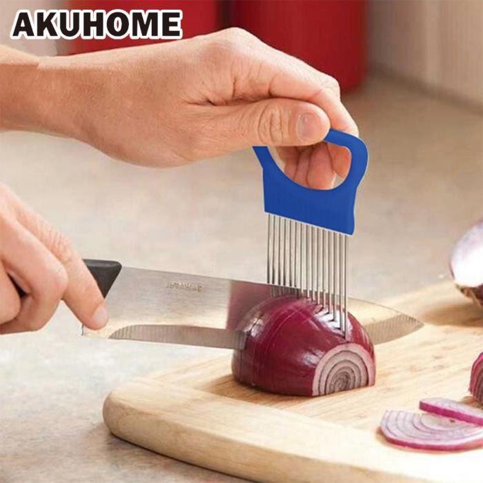 Hachoir manuel,Coupe tomate métal aiguille à viande Gadgets fourchette à viande coupe facile porte oignon fourchette inox +