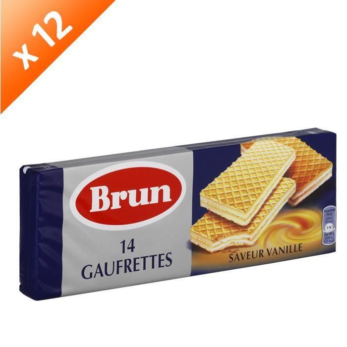 [LOT DE 12] BRUN 14 gaufrettes saveur Vanille - 146 g