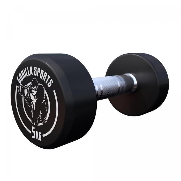 Gorilla Sports 5 kg Dumbbell haltère poids